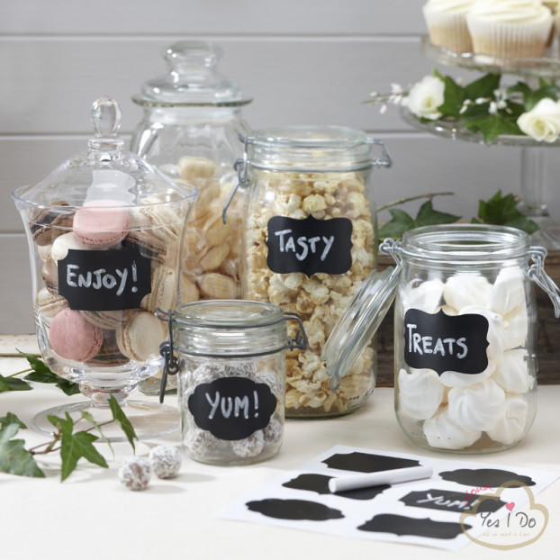 12 CHALK BOARD STICKER LABELS