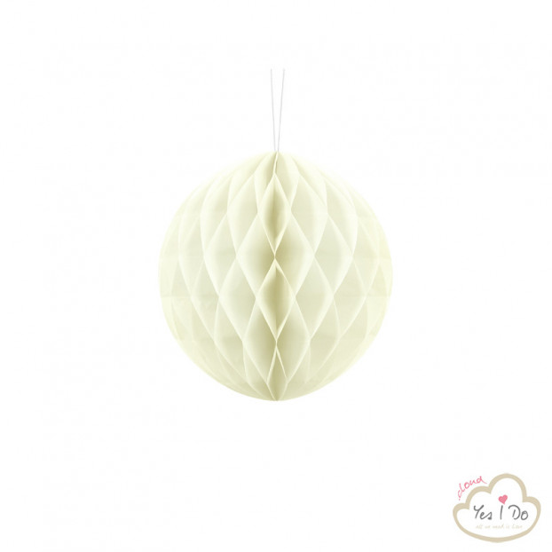 1 CREAM HONEYCOMB BALL 20 CM