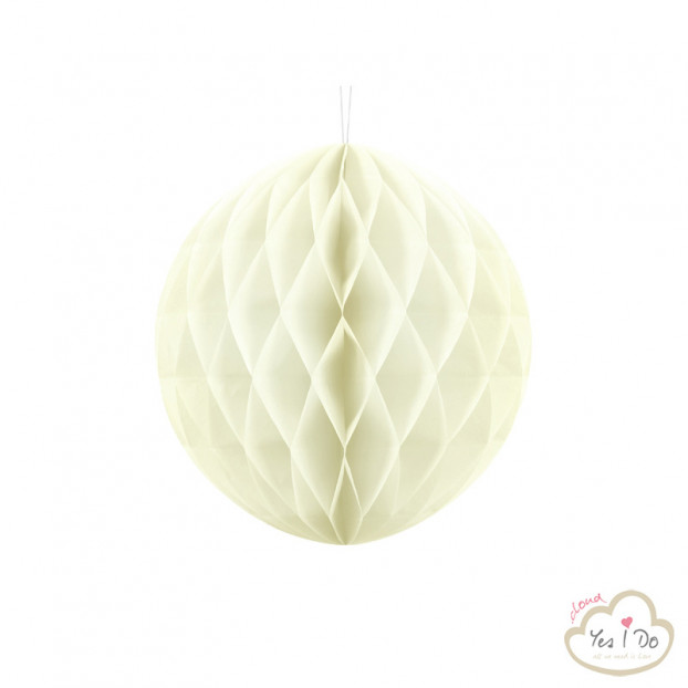 1 CREAM HONEYCOMB BALL 30 CM