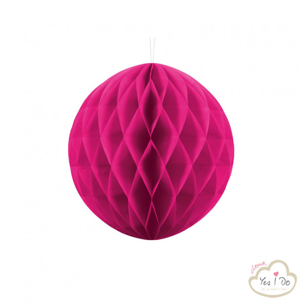 1 DARK PINK HONEYCOMB BALL 30 CM