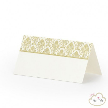 PLACE CARDS WITH GOLDEN ORNAMENTS 25 PCS.