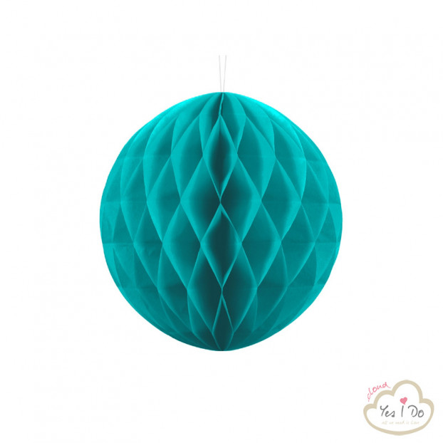 1 LIGHT TURQUOISE HONEYCOMB BALL 30 CM