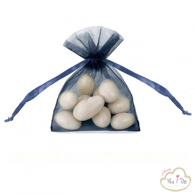 20 NAVY BLUE ORGANZA POUCHES