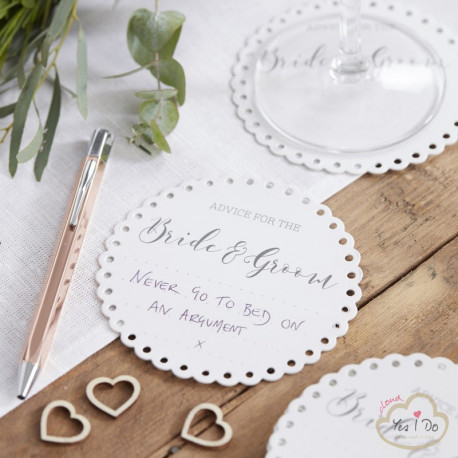 20 ADVISE FOR THE BRDE & GROOM COASTERS
