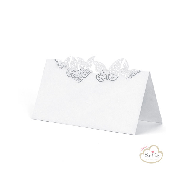 PLACE CARDS WITH BUTTERFLIES 10 PCS.