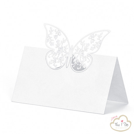 PLACE CARDS WITH BUTTERFLY 10 PCS.