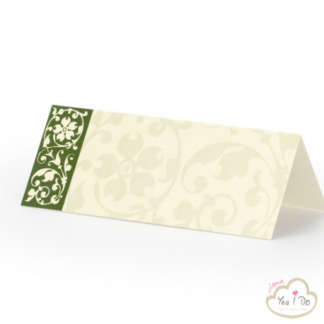 PLACE CARDS WITH GREEN DETAIL 25 PCS.