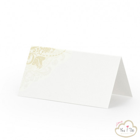 PLACE CARDS WITH GOLDEN DETAILS 25 PCS.