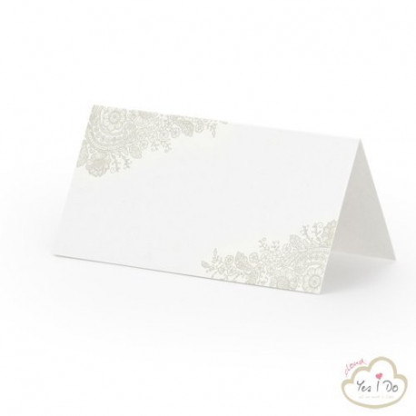 PLACE CARDS WITH DELICATES ORNAMENTS 25 PCS.