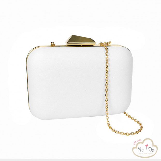 WHITE/GOLD POCHETTE