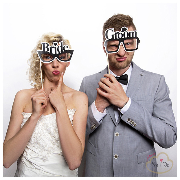 PHOTO BOOTH OCCHIALI BRIDE E GROOM
