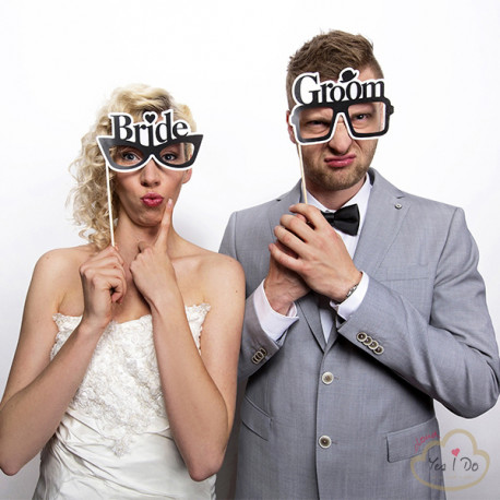 PHOTO BOOTH GLASSES BRIDE E GROOM