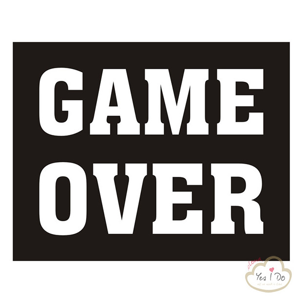 "2 STICKER ""GAME OVER"""