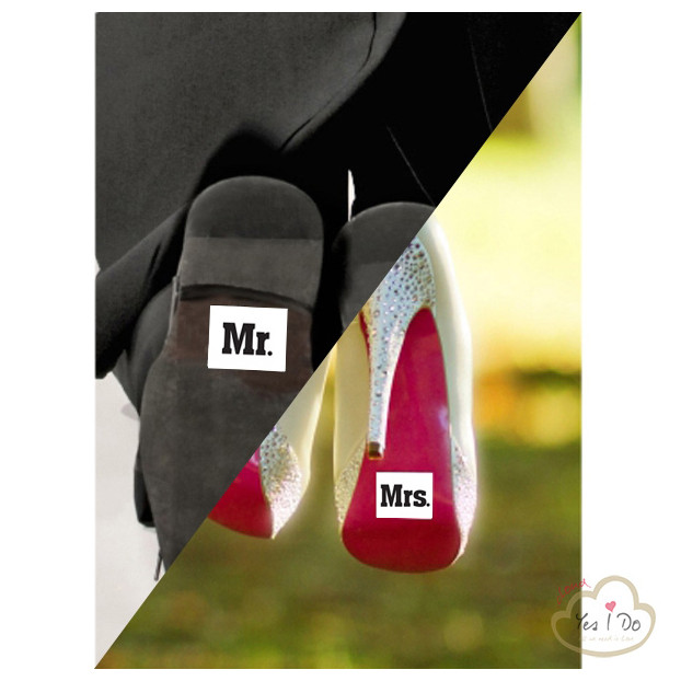 2 SHOE STICKER MR./MRS.