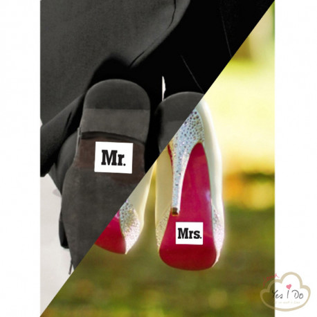 "2 STICKER ""MR"" E ""MRS!"""