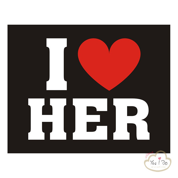"2 STICKER ""I LOVE HER"""