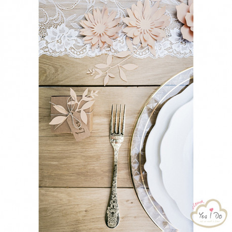 3 POWDER PINK PAPER DECORATIONS FLOWERS
