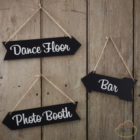3 CHALKBOARD WEDDING ARROW SIGNS