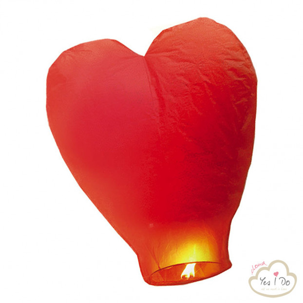 RED HEART-SHAPED FLYING LANTERN
